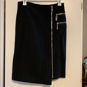 Vince Camuto black skirt with zippers